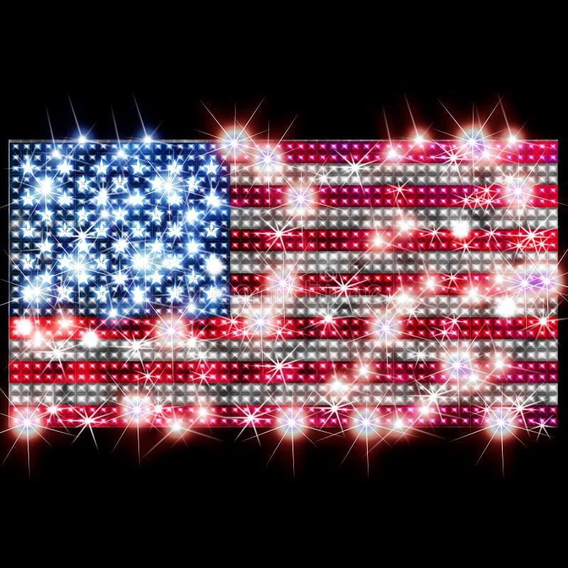 De vlag van de V.S. in bergkristallen royalty-vrije illustratie