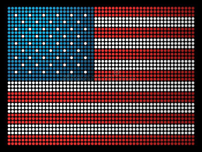 De vlag van de V.S. leds vector illustratie