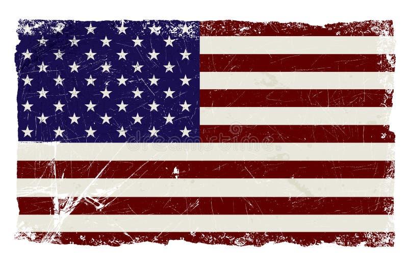 De Vlag van de V.S. van Grunge vector illustratie