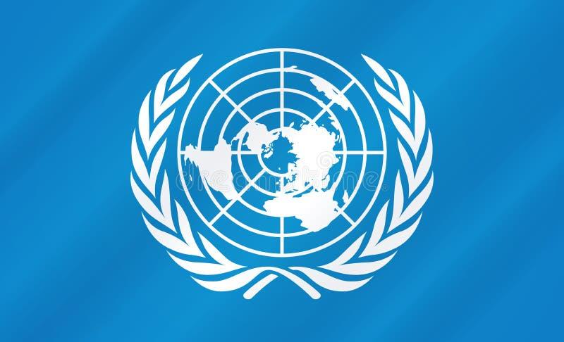 De Vlag van de Verenigde Naties royalty-vrije illustratie