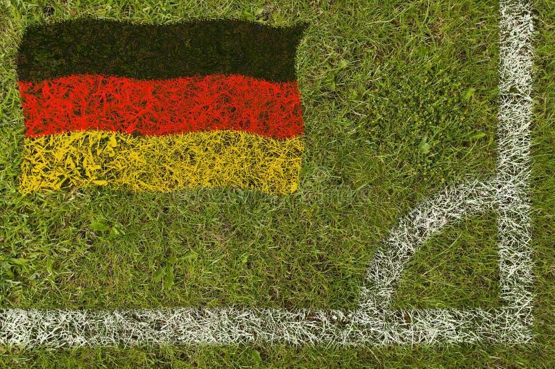 De Vlag van de voetbal stock afbeelding