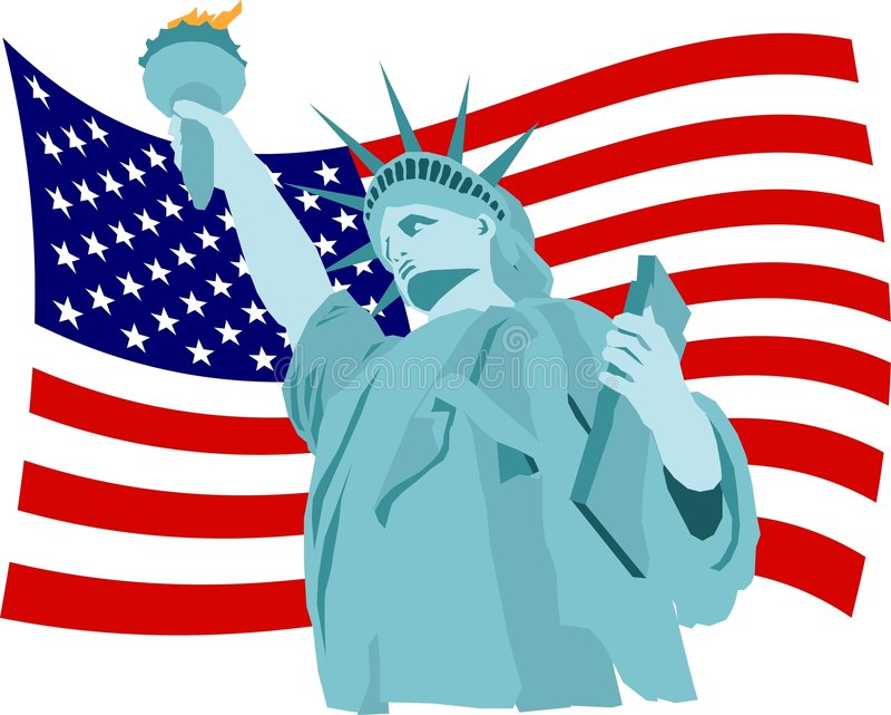 Download De Vlag van de vrijheid vector illustratie. Illustratie bestaande uit standbeeld - 41673