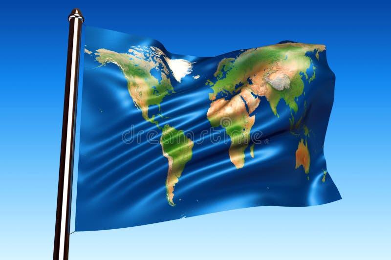 De vlag van de wereld vector illustratie