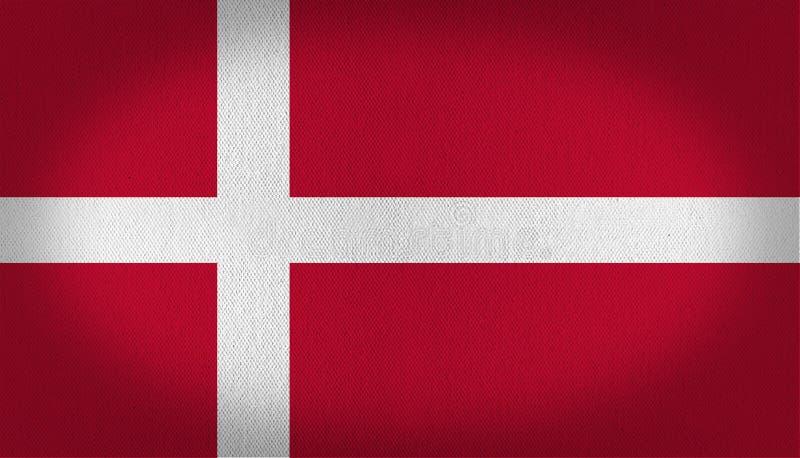 De Vlag van Denemarken royalty-vrije illustratie