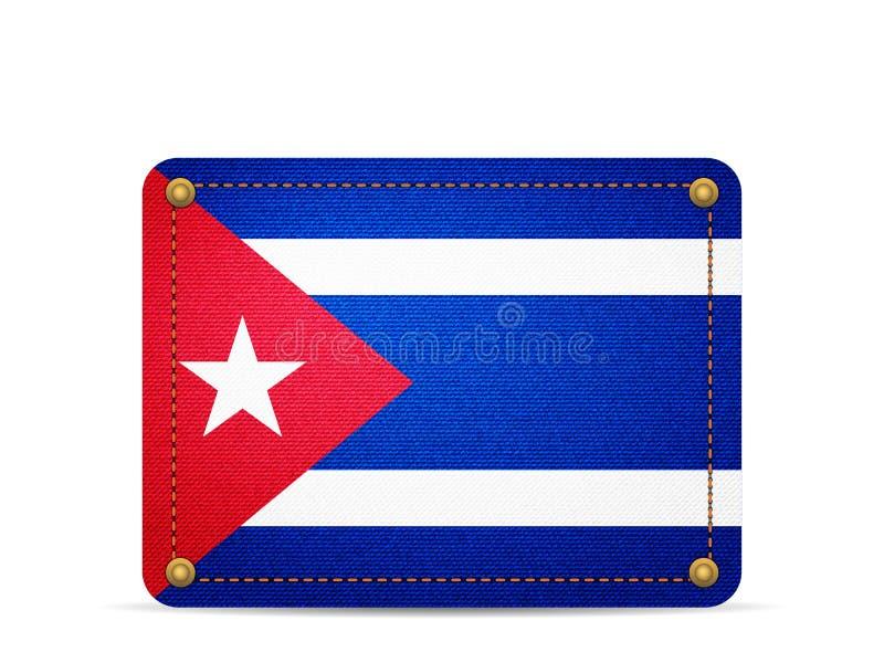 De vlag van denimcuba stock illustratie