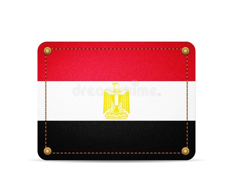 De vlag van denimegypte royalty-vrije illustratie