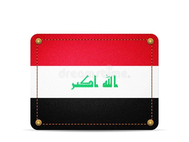 De vlag van denimirak stock illustratie