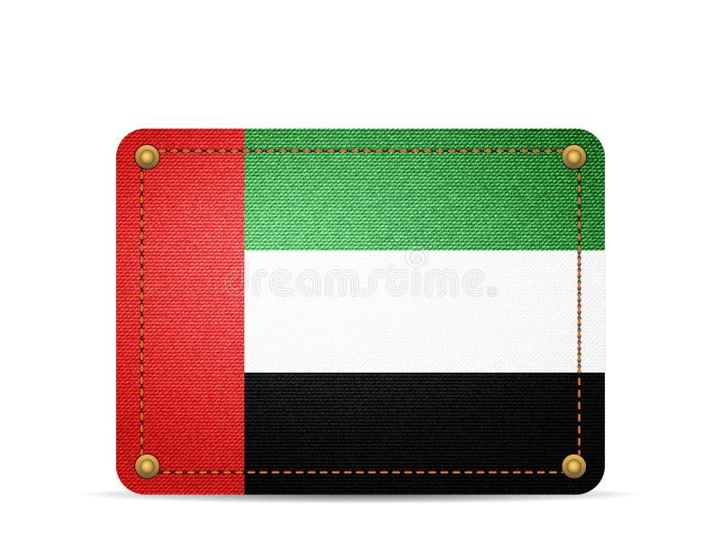 De vlag van de denimv.a.e vector illustratie