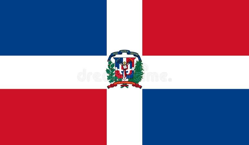 De Vlag van de Dominicaanse Republiek royalty-vrije illustratie