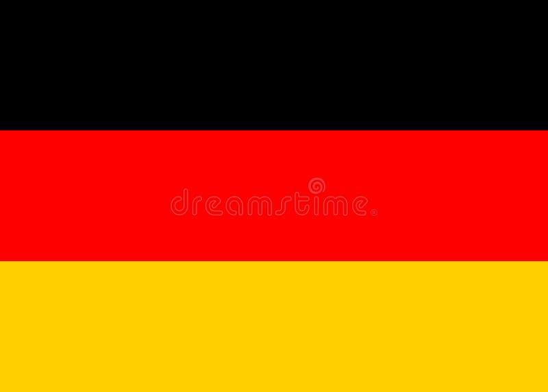 De Vlag van Duitsland stock illustratie