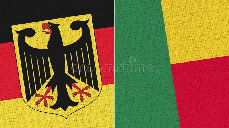 De Vlag van Duitsland en Benin royalty-vrije illustratie
