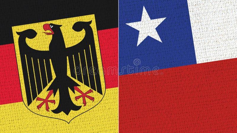 De Vlag van Duitsland en van Chili royalty-vrije illustratie