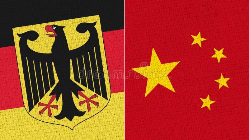 De Vlag van Duitsland en van China royalty-vrije illustratie