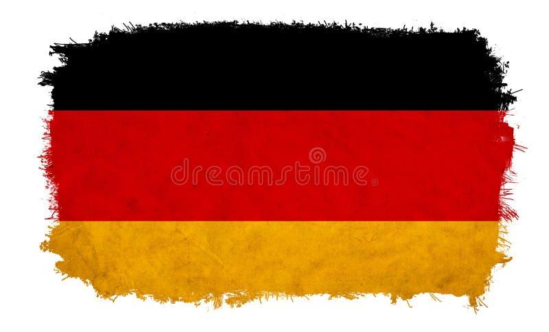 De vlag van Duitsland grunge stock illustratie