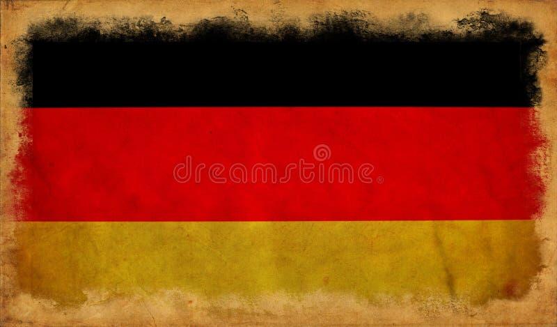 De vlag van Duitsland grunge vector illustratie