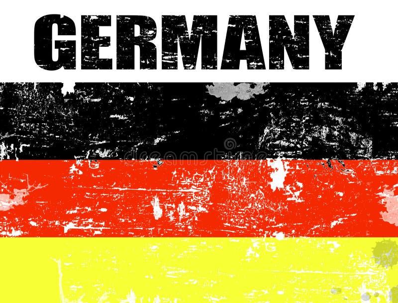 De vlag van Duitsland grunge royalty-vrije illustratie