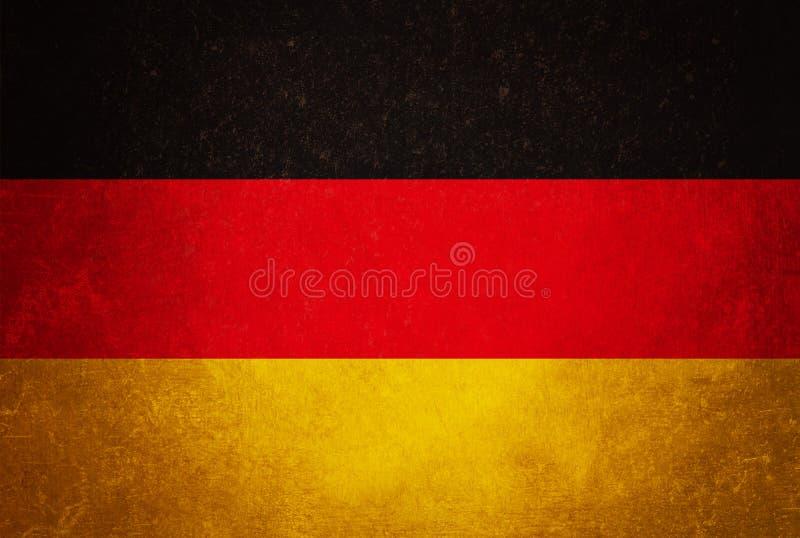 De vlag van Duitsland, grunge textuurachtergrond royalty-vrije stock fotografie