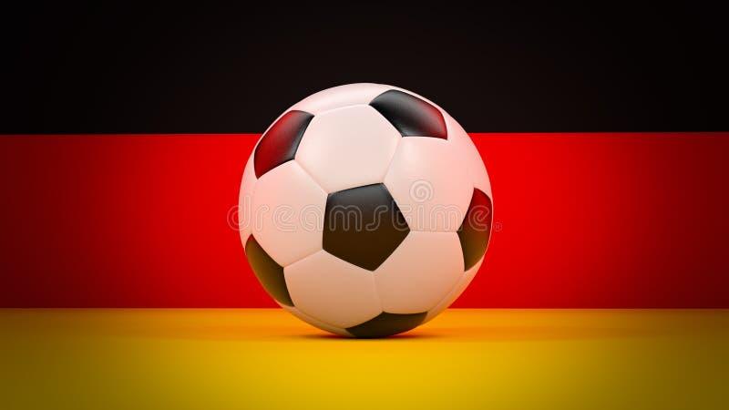 De vlag van Duitsland met voetbalbal stock foto