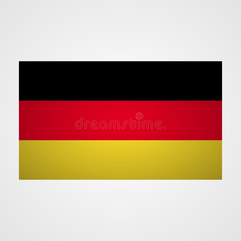 De vlag van Duitsland op een grijze achtergrond Vector illustratie royalty-vrije illustratie