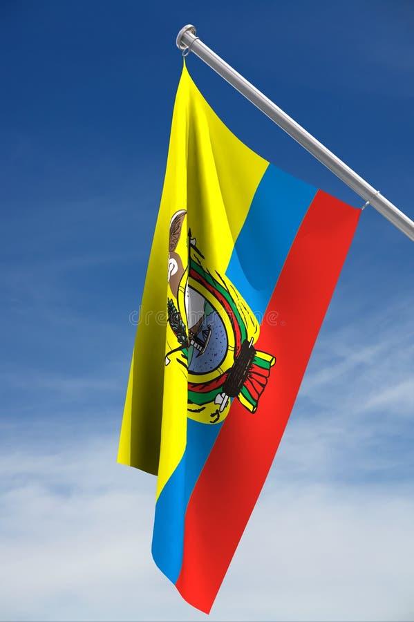 De vlag van Ecuador vector illustratie