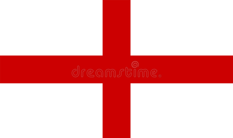 De vlag van Engeland royalty-vrije illustratie
