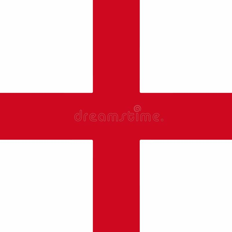 De Vlag van Engeland E r Vector illustratie stock illustratie