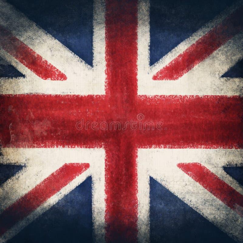 De vlag van Engeland, grunge en retro vlagreeks stock illustratie