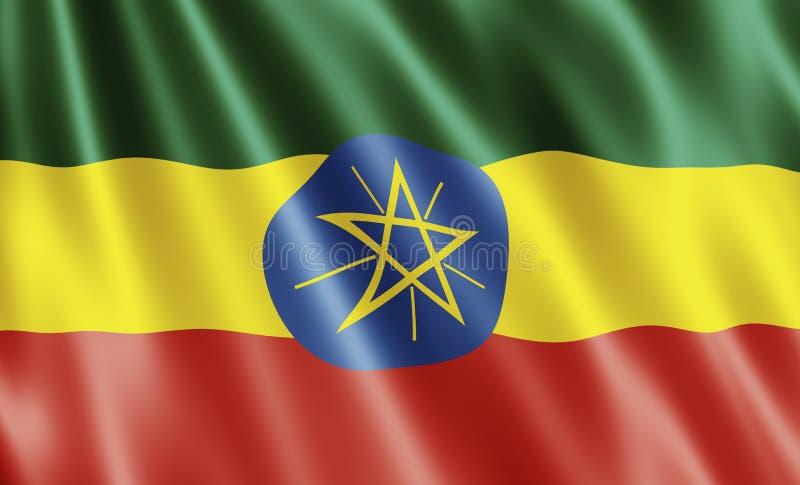 De Vlag van Ethiopië stock illustratie