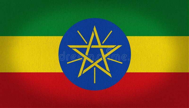 De vlag van Ethiopië royalty-vrije illustratie
