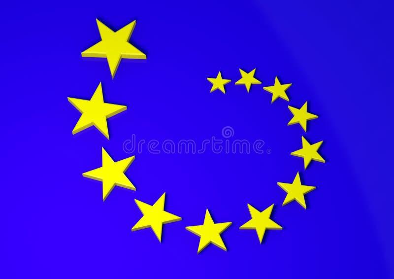 De vlag van Europa stock illustratie