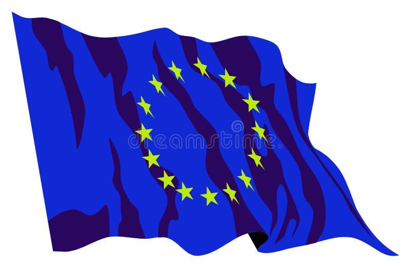 De vlag van Europa stock foto's