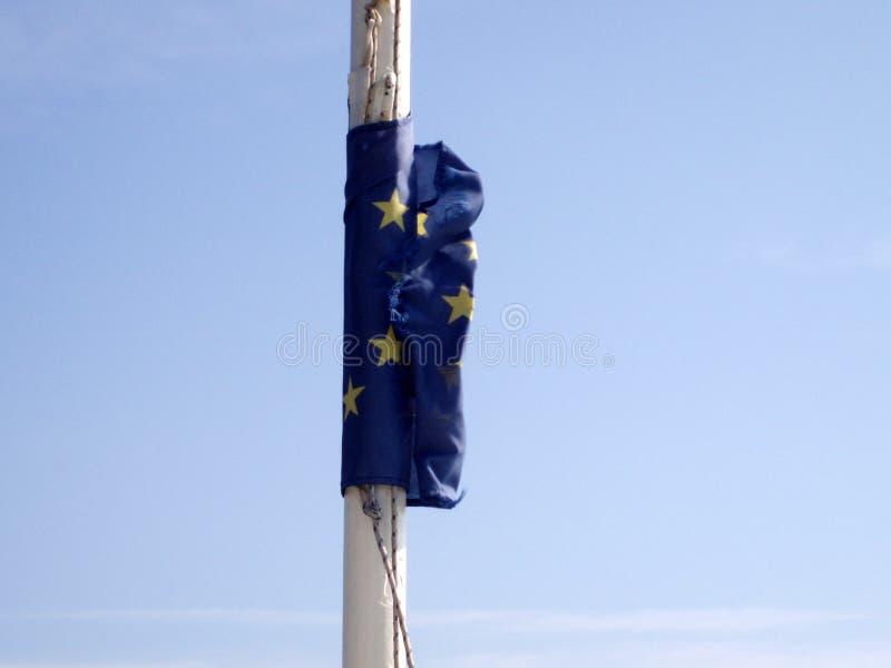 De vlag van Europa in Griekenland stock fotografie