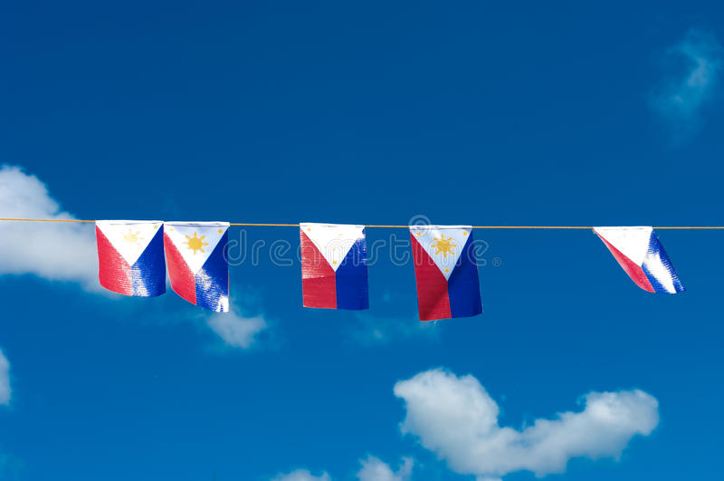 De vlag van Filippijnen royalty-vrije stock afbeelding