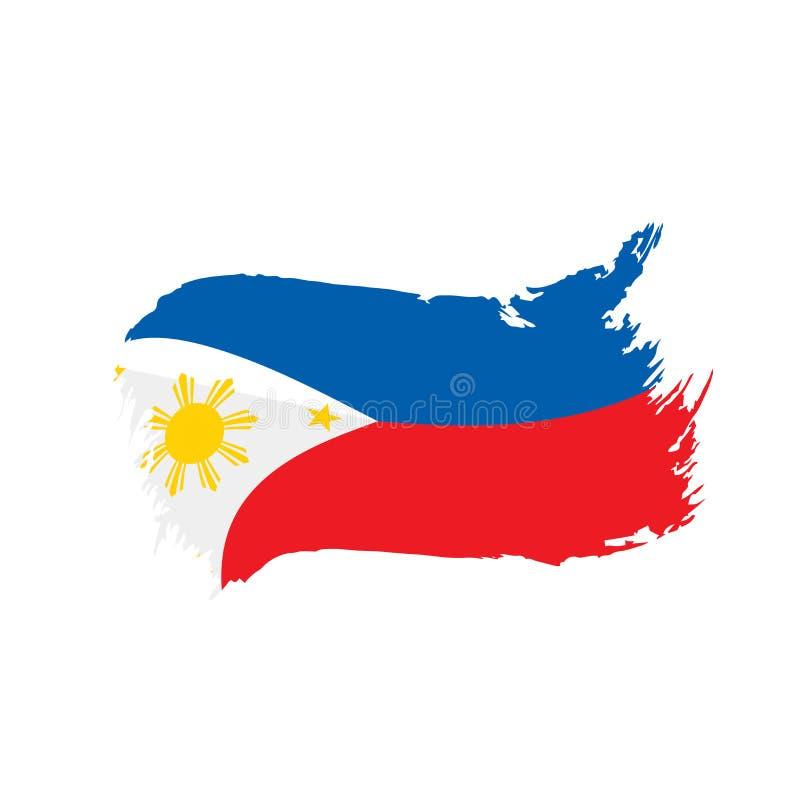 De vlag van Filippijnen, vectorillustratie royalty-vrije illustratie