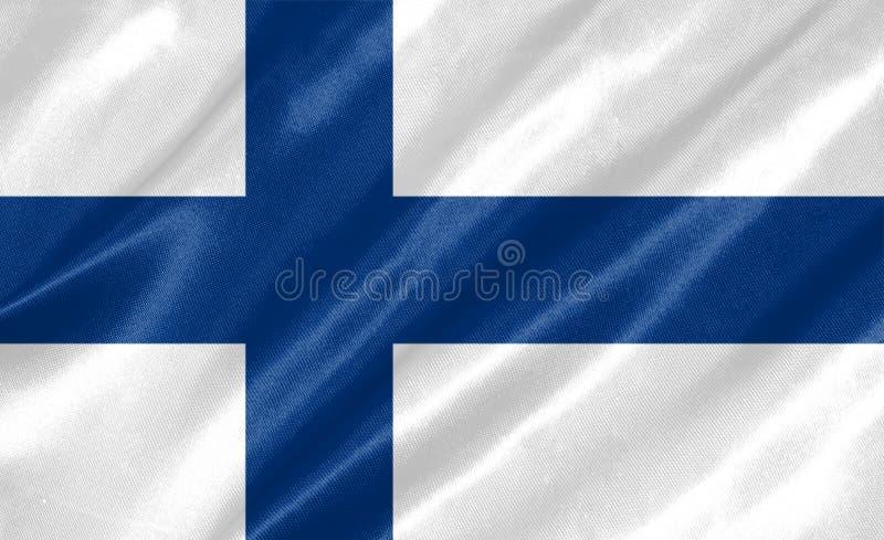 De Vlag van Finland stock illustratie