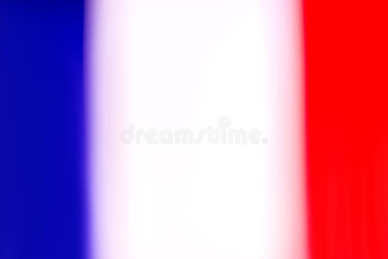 De vlag van Frankrijk in defocus vector illustratie