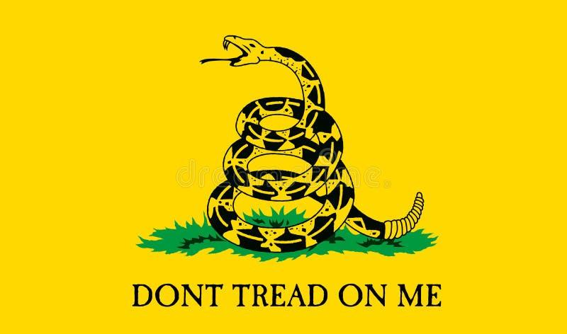 De Vlag van Gadsden vector illustratie