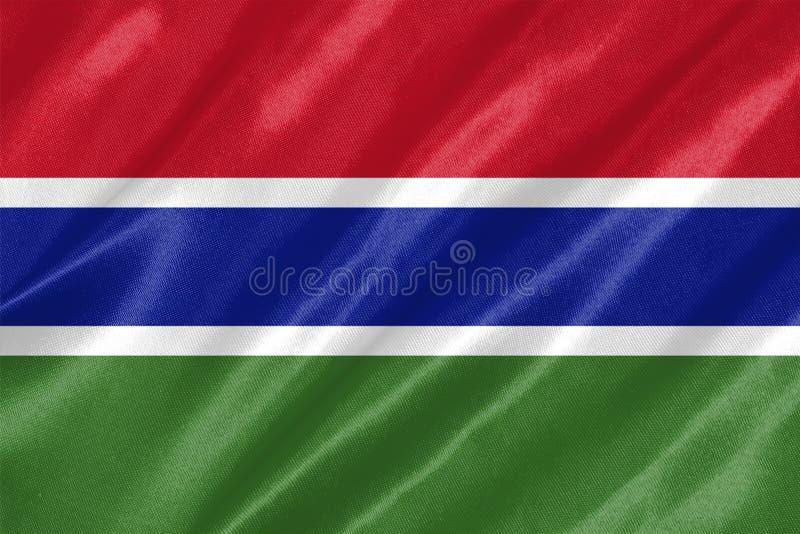 De vlag van Gambia stock illustratie