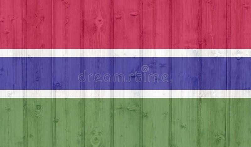 De vlag van Gambia van Grunge stock illustratie