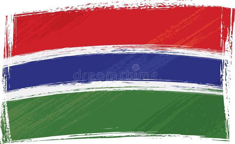 De vlag van Gambia van Grunge royalty-vrije illustratie