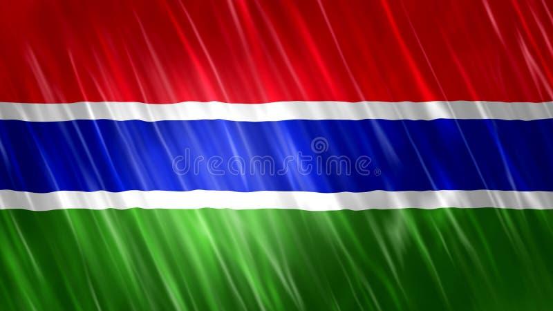 De vlag van Gambia vector illustratie