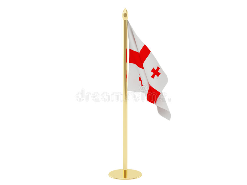 De vlag van Georgië royalty-vrije illustratie