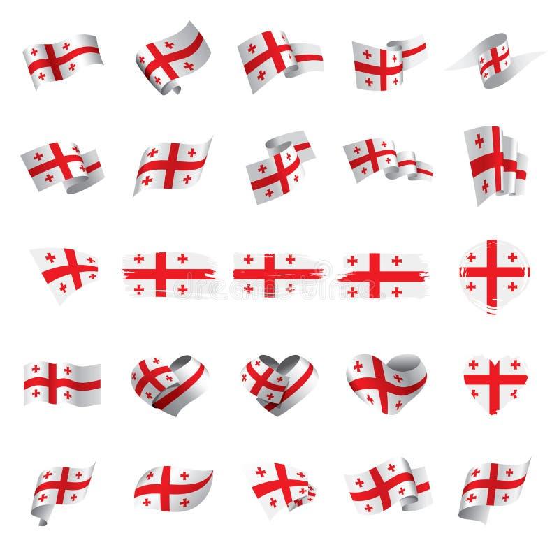 De vlag van Georgië, vectorillustratie royalty-vrije illustratie