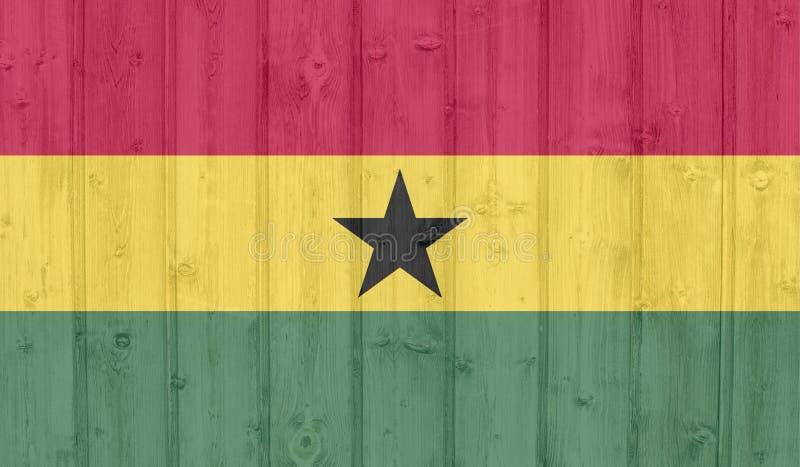 De vlag van Ghana van Grunge royalty-vrije stock foto's