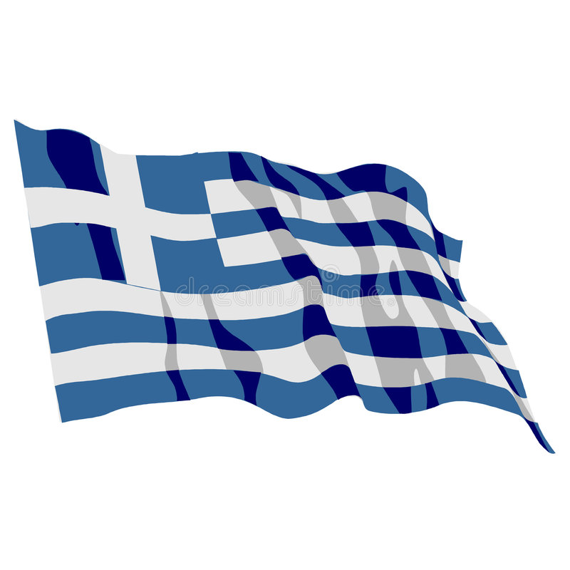 De Vlag van Griekenland vector illustratie