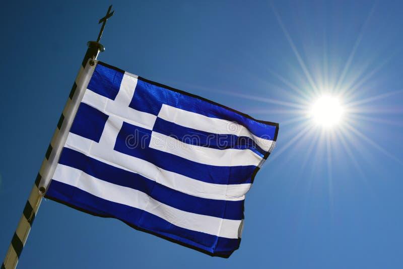 De Vlag van Griekenland royalty-vrije stock afbeeldingen