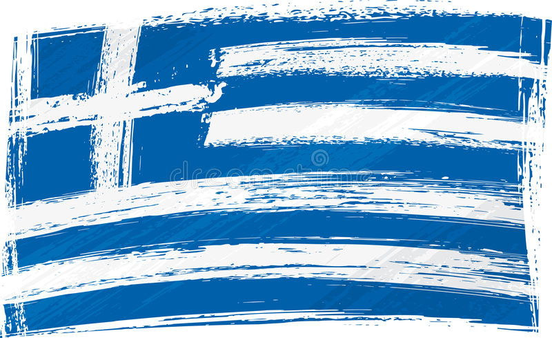 De vlag van Griekenland van Grunge stock illustratie