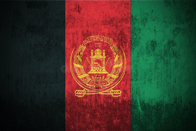 De Vlag van Grunge van Afghanistan vector illustratie