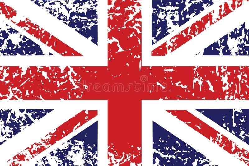 De vlag van Grunge van het Verenigd Koninkrijk royalty-vrije illustratie