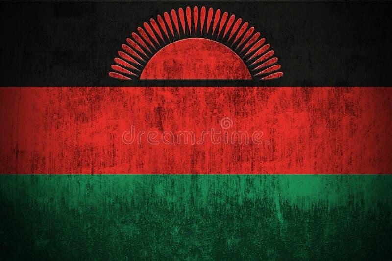 De Vlag van Grunge van Malawi vector illustratie